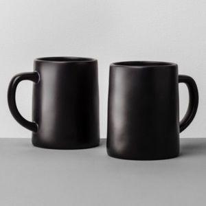 HEARTH AND HAND Magnolia Black Stoneware Mugs Set